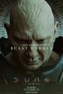 Dune Character Poster - Beast Rabban
