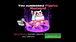 Pignus token summoned