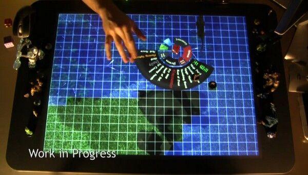 『D&D』のダンジョンタイルを表示しているMicrosoft Surface