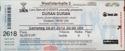 Ticket duran duran SITZPLÄTZE 6. REIHE!! - DORTMUND WESTFALENHALLE - TICKET - KARTE wikipedia.png