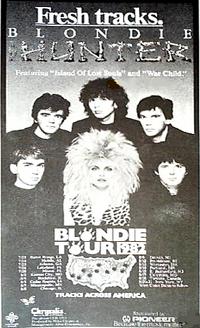 Blondie tracks across america poster with duran duran 1982.png