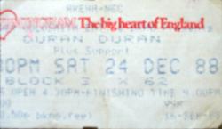 Duran duran ticket birmingham nec arena 1988.png