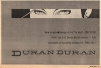 Hungry like the wolf wikipedia song duran duran advert record mirror music paper.jpg