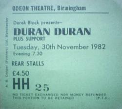 Ticket event show Odeon, Birmingham (UK) - 30 November 1982 duran duran.png