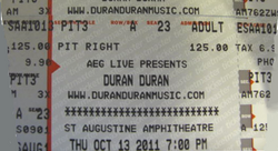 St Augustine FL 10-13-11 duran duran discogs ticket.png