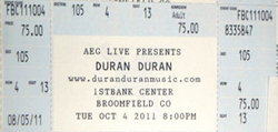 Ticket bloomfield Broomfield, CO (USA), 1st Bank Center duran duran discogs.png