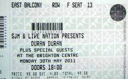Ticket duran duran brighton 2011.png
