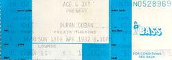 Palais Theatre Melbourne Australia wikipedia duran duran ticket stub.jpg