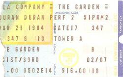 TICKET Madison Square Garden, New York, NY (USA) - 21 March 1984 WIKIPEDIA DURAN DURAN SHOW.jpg