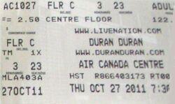 Air canada centre ticket duran duran october 27 20011.JPG