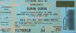 TICKET Citibank Hall, Rio De Janeiro, Brazil. wikipedia duran duran show review.png
