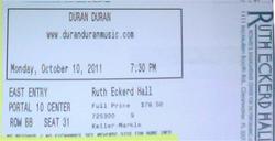 Ticket clearwater ruth eckerd hall duran duran 2011 concert.png