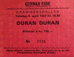 Drammenshallen Oslo Norway wikipedia duran duran ticket stub.png