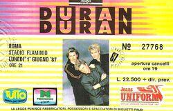 Duran ticket rome 1987.jpg