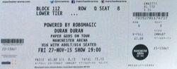Manchester Arena Manchester wikipedia duran duran ticket stub.jpg