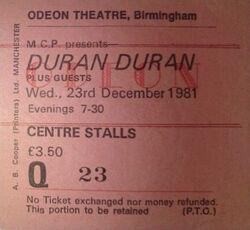 Odeon Birmingham UK - 23 December 1981 wikipedia duran duran ticket stub.jpg