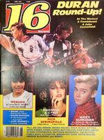 16 Magazine Duran Duran Round-Up, Madonna June 1985 wikipedia madonna.JPG