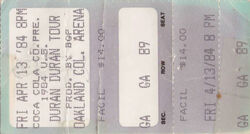 Oakland Coliseum Arena duran duran wikipedia ticket stub.jpg