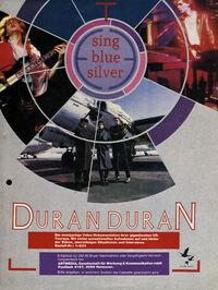 Sing Blue Silver video wikipedia duran duran advert.jpeg