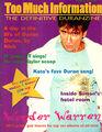 Too much information the definitive duranzine fanzine magazine wikipedia duran duran