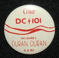 WWDC radio station, Washington DC, Promo pin badge for a Duran Duran concert, 1982..jpg