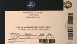 1 o2 arena london wikipedia ticket duran duran 2015 concert.jpg