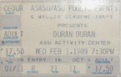 Ticket ASU Activity Center, Tempe, AZ, USA wikipedia duran duran.png
