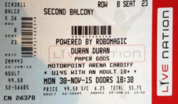 Motorpoint Arena wikipedia cardiff duran duran ticket stub discogs com.png
