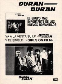 Spain duran duran wikipedia advert album.jpg