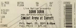 Comcast Arena Everett WA USA wikipedia ticket duran duran paper gods album discogs.jpg
