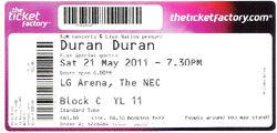 Ticket duran duran LG arena the nec 21 may 2011.jpg