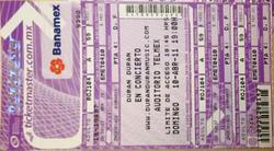 5 - ticket duran duran Telmex Auditorium, Guadalajara, Mexico.png