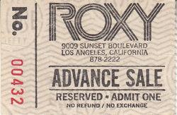 The Roxy, Hollywood, CA (USA) - 2 October 1981 wikipedia duran duran ticket.jpg