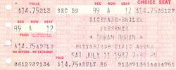 Duran duran ticket pittburgh civic arena 11 july 1987.png