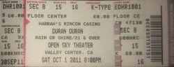 1 san diego open sky theater ticket duran duran 1 october 2011.jpg