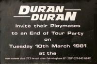Rum runner birmingham flyer duran duran tour 1981 rare.png