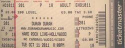 Hard rock live ticket duran duran 2011.jpg