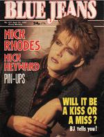 Blue Jeans Magazine 20 April 1985 No. 431 Nick Rhodes of Duran Duran wikipedia.png