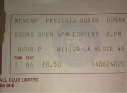 Aston villa duran duran park concert mencap ticket stub 1983.jpg