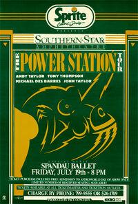 Poster duran duran Southern Star Amphitheatre in Houston power station.jpg