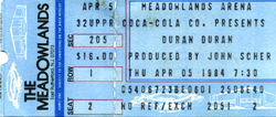 Duran duran ticket 5 april 1984.png