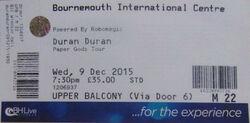 Bic bournemouth wikipedia duran duran ticket 2015 paper gods album tour.jpg