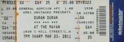 Mayan Theatre, Los Angeles wikipedia duran duran ticket stub.jpg