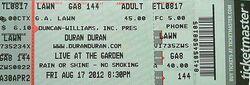 Memphis Botanical Gardens, Memphis, TN, USA. wikipedia duran duran ticket stub.jpg
