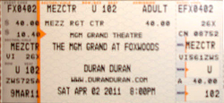 Ticket duran duran mgm grand at foxwoods 1.png