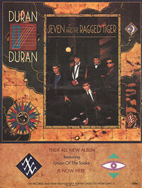 Seven and the ragged tiger advert wikipedia album duran duran.jpg