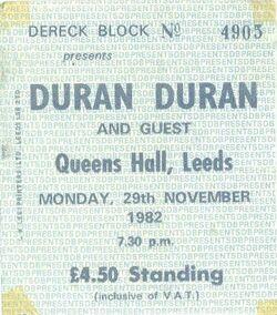 Ticket leeds queen hall duran duran 1982 concert wikipedia.jpg