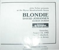 Duran duran blondie tour programme 1.png