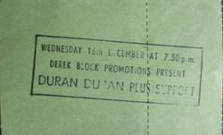 Hammersmith Odeon, London (UK) - 16 December 1981 wikipedia duran duran ticket stub.png