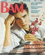 BAM Magazine December 1985 Arcadia Duran Duran Ronnie James Dio Scorpions wikipedia.JPG